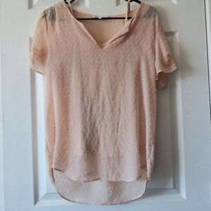 DR2 Tops - Sheer Pink Blouse with liner tank top